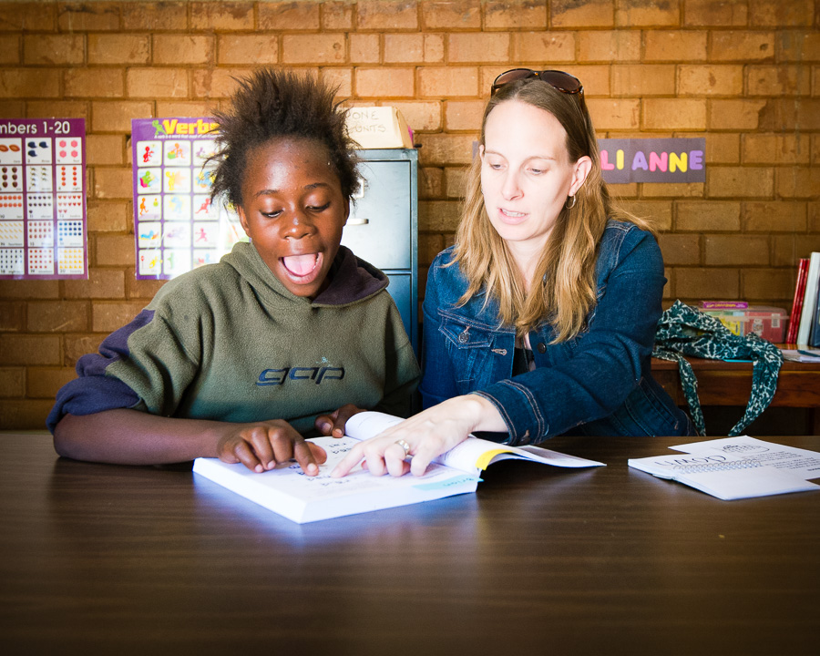 Working with Lushomo on reading skills